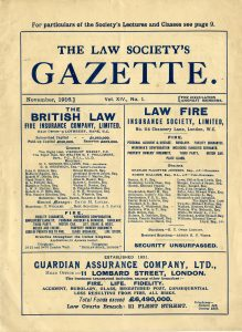 Front page of the Gazette's November 1916 issue.