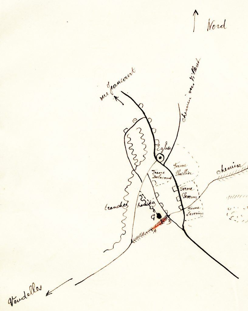 Map of Le Verguier, 1919