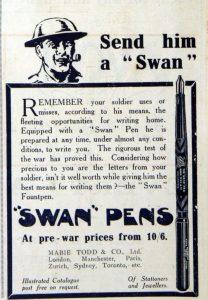 Swan Pen advertisement