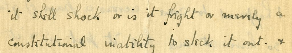 close-up of lines from Peirs' 11/21/1916 letter